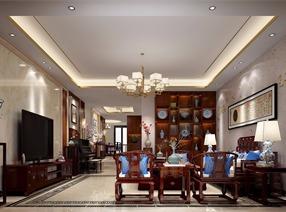 天河区粤海丽江花园古典中式风格