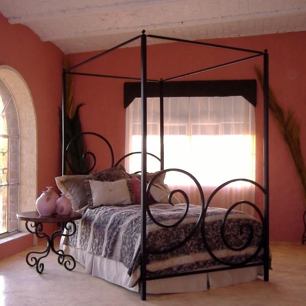 复古优雅铁艺床,睡觉都能如此文艺!