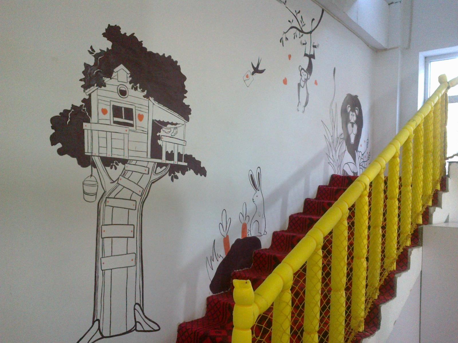家装墙面装饰试试手绘墙画吧 手绘墙画教程