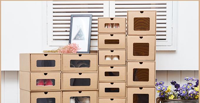 鞋盒废物利用做收纳盒,不仅环保还很实用!