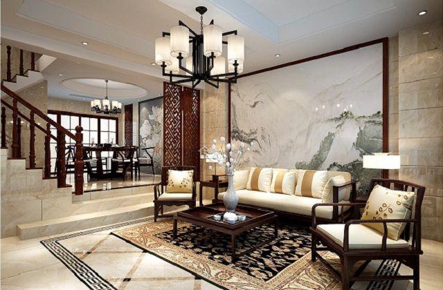 新中式地面拼花地面装饰建材,让地面也能开出花