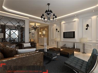 本案设计定位为欧式风格,在整个装修风格上,不仅体现