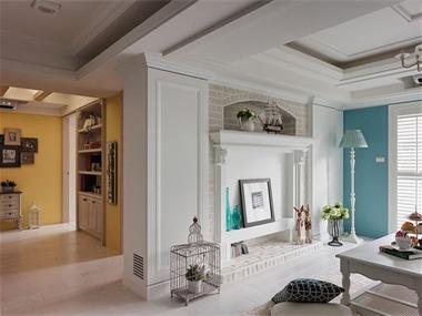 这套地中海风格的两居室装修效果图能够让你想象出一幅
