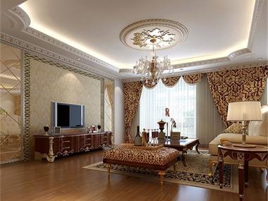 华佑装饰欧式风格套餐整体样板房配置六大区域:(整体