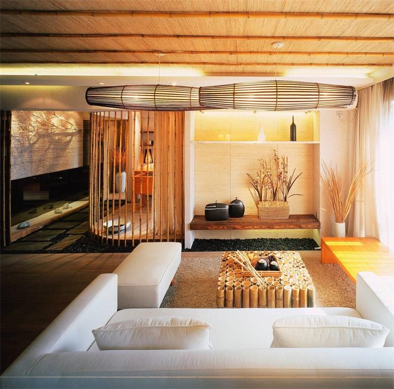 日式客厅电视背景墙实景图