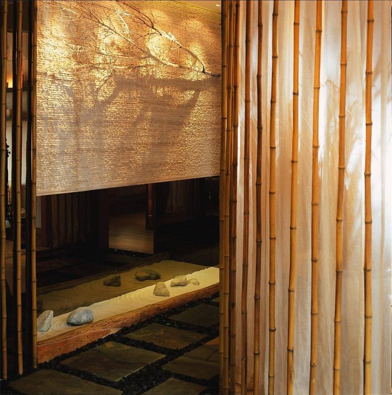 日式过道背景墙实景图