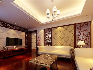 新古典客厅电视背景墙效果图