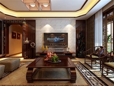 中式客厅背景墙效果图