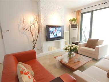 升龙城简约公寓式设计客厅背景墙