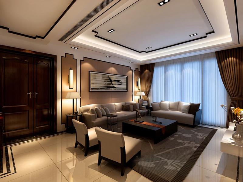 109平中式风格家装案例图客厅