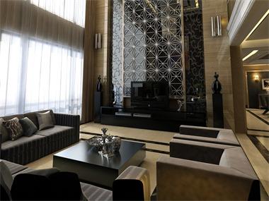 350平现代简约风格家装案例图客厅
