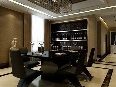 350平现代简约风格家装案例图餐厅