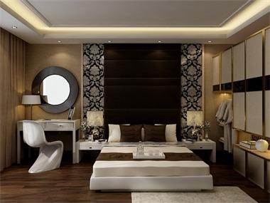 350平现代简约风格家装案例图卧室