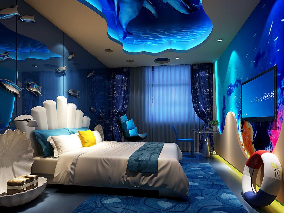 主題酒店設計案例1800平米裝修效果圖_張承宏設計作品