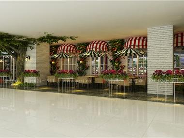沈阳万达商场Piace pizza 餐厅项目设计外围