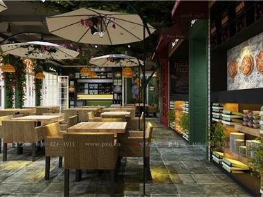沈阳万达商场Piace pizza 餐厅项目设计饮品区