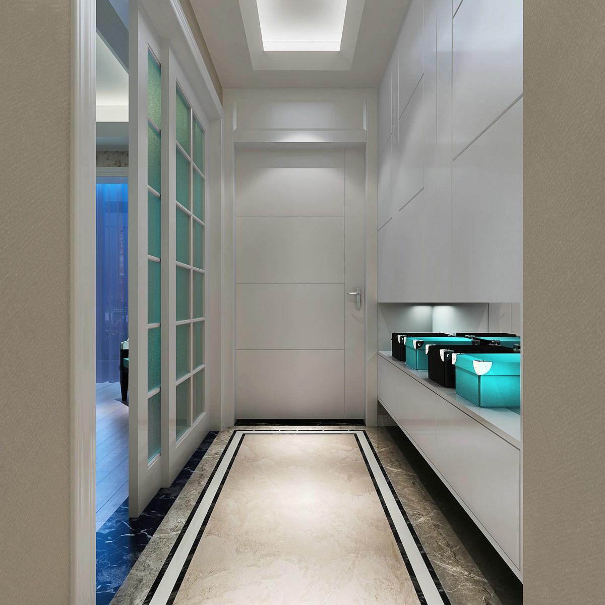 新中式玄关背景墙效果图