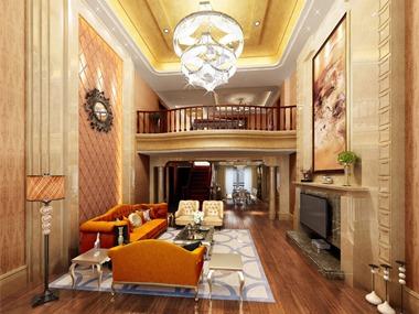 欧式客厅沙发背景墙效果图