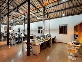孵化创意的古粮仓——富义仓9号办公空间吧台