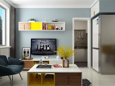 宜家客厅电视背景墙效果图