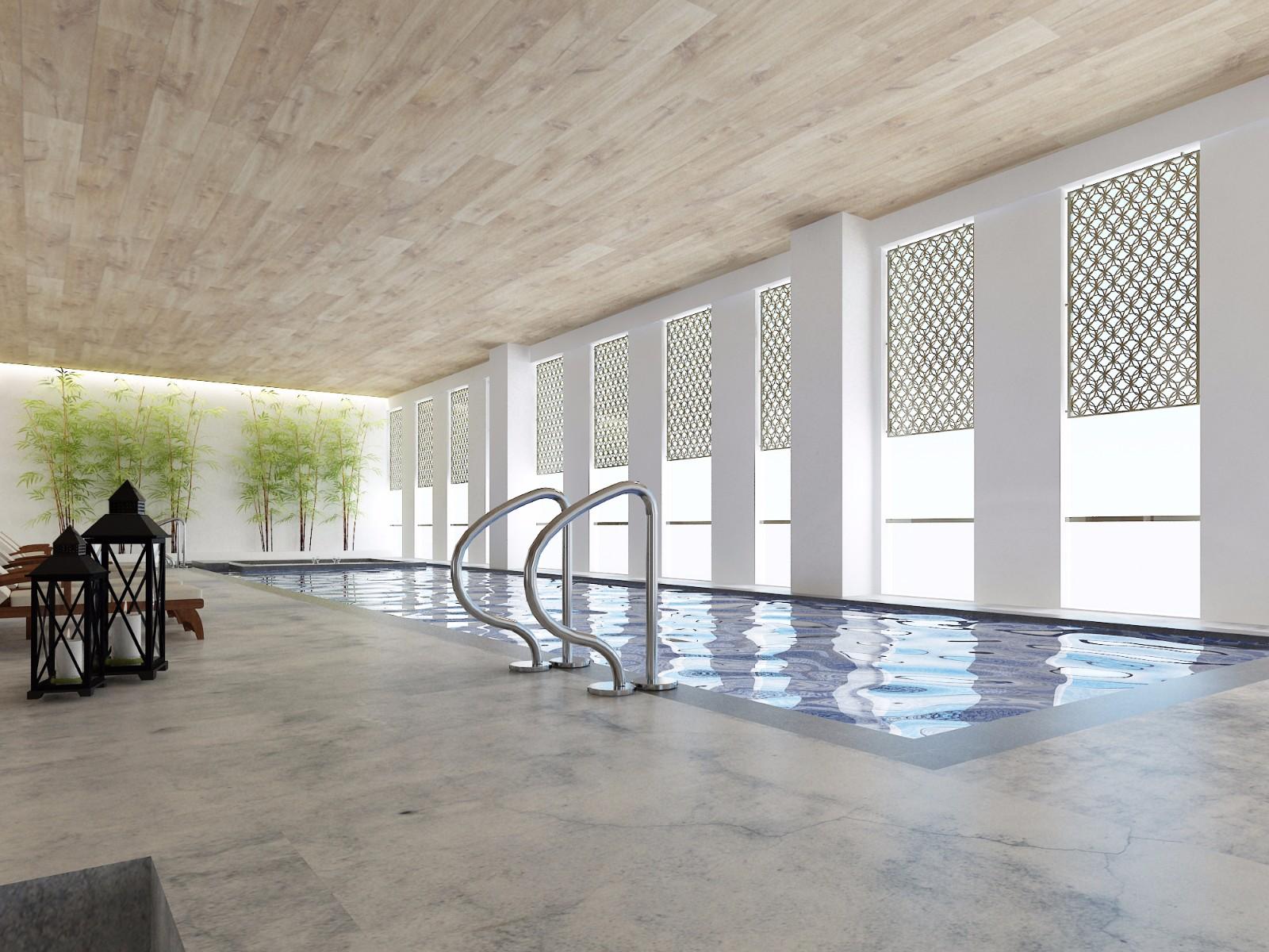 酒店泳池效果图