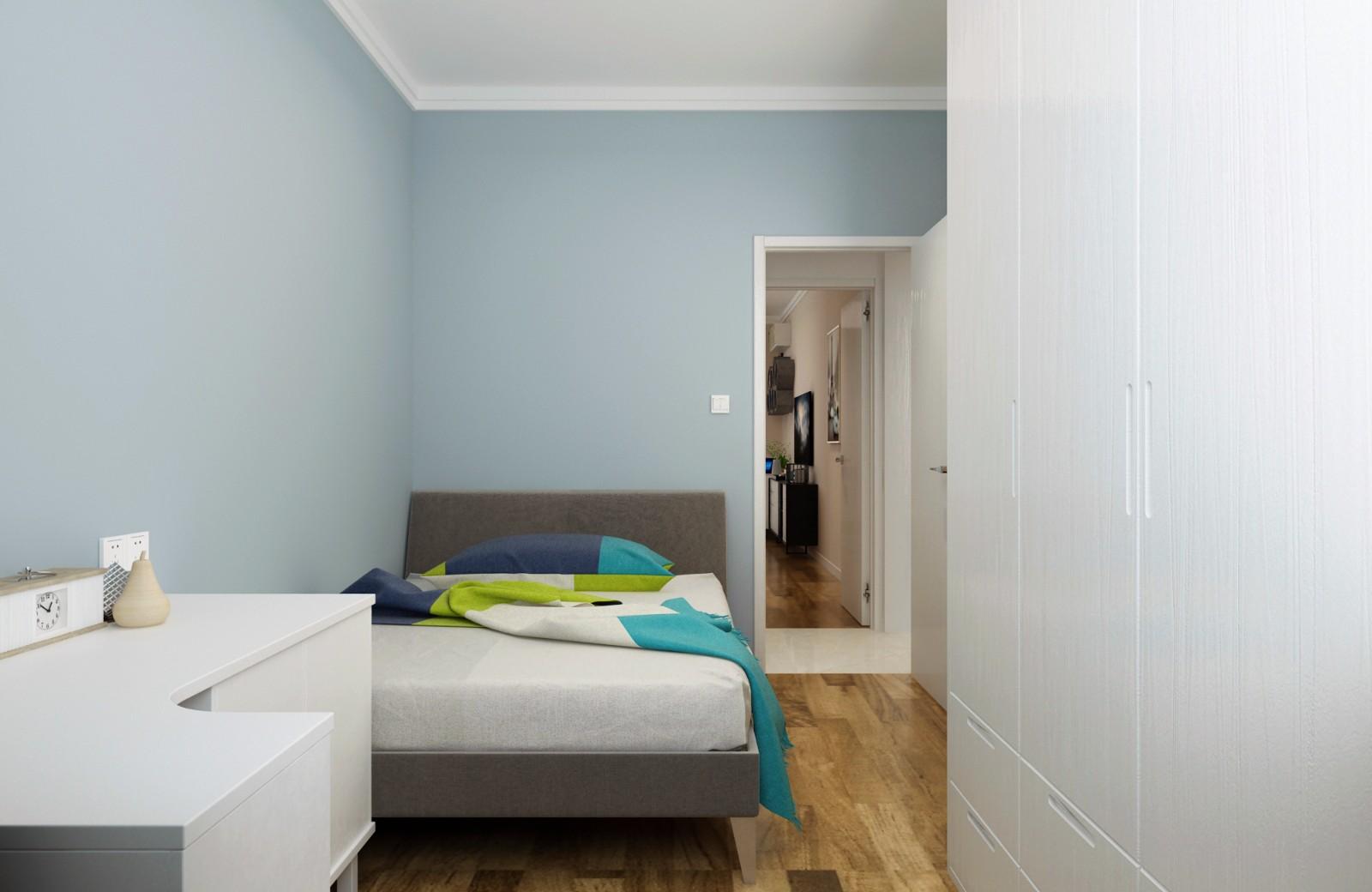 简约卧室背景墙效果图