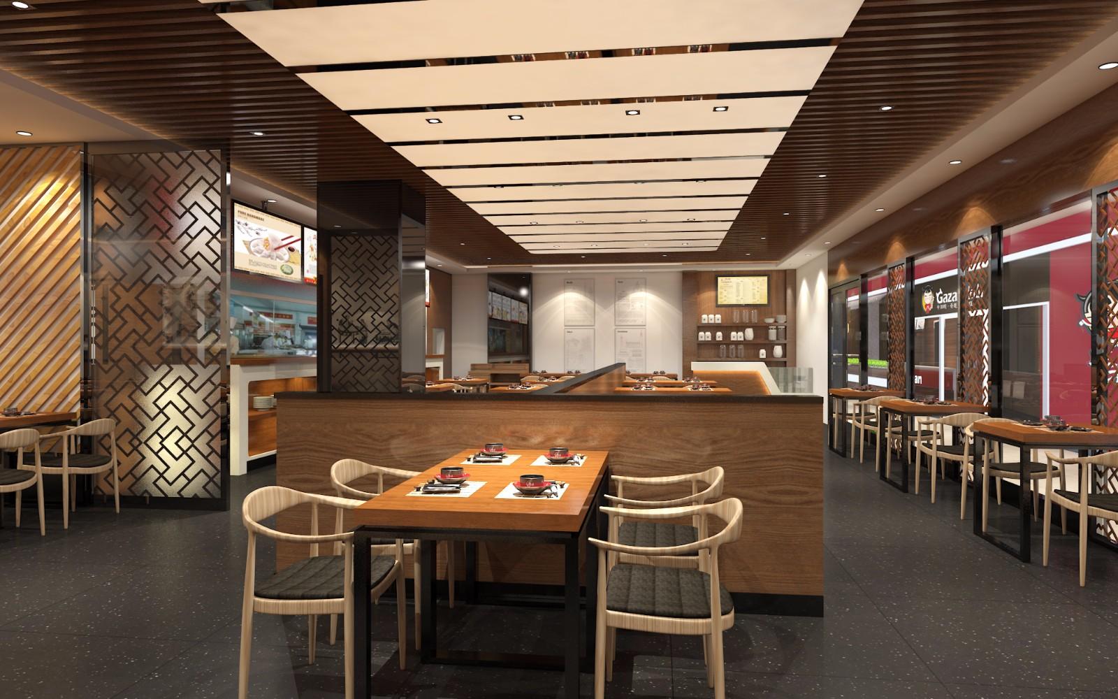 餐厅就餐区效果图