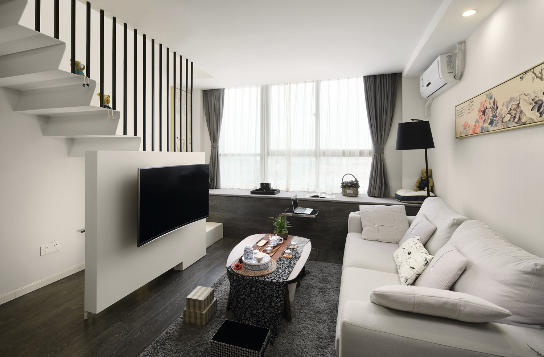北欧客厅电视背景墙效果图