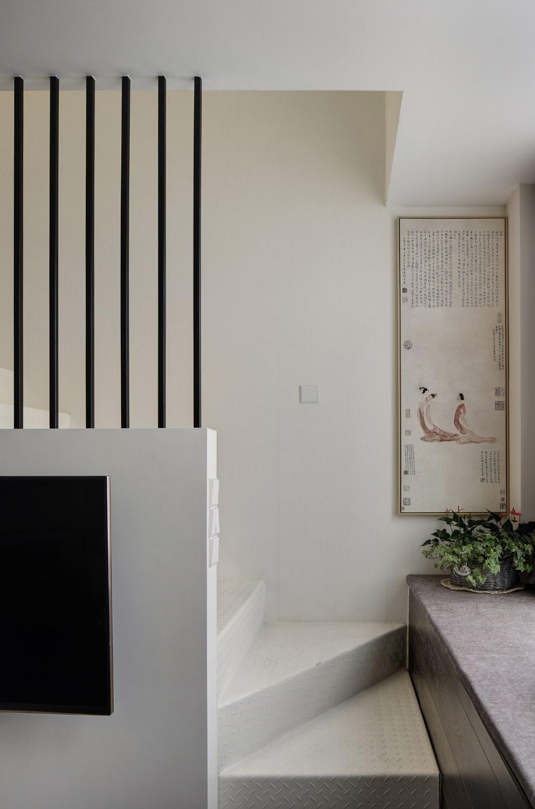 北欧客厅楼梯效果图