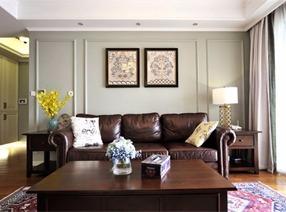 深色调美式构成惬意而舒适的家