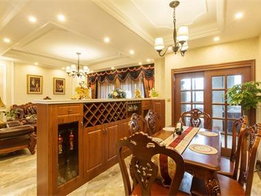 新古典餐厅酒柜实景图