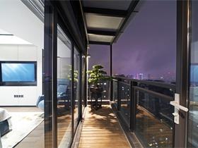 现代阳台吊顶实景图