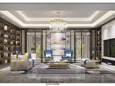中式客廳吊頂效果圖
