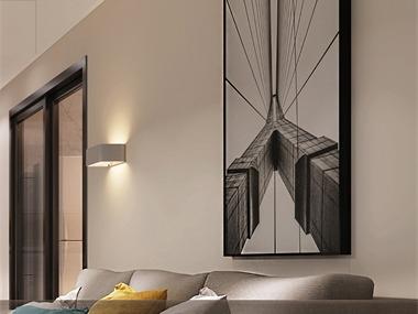 北欧客厅照片墙效果图