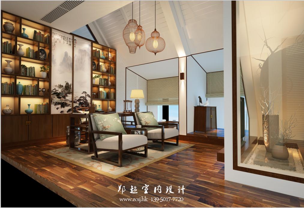 中式书房吊顶效果图