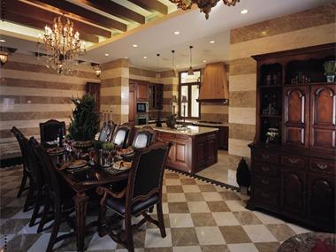 美式古典-花园别墅装修实景图厨房