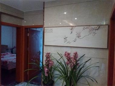 中式玄关背景墙效果图