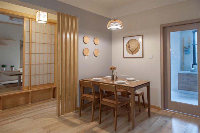 日式餐厅背景墙效果图