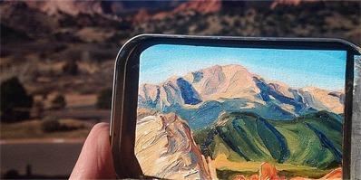 这位来自美国的艺术家把风景装进铁盒子里带走了!