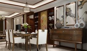 中式餐厅壁橱效果图