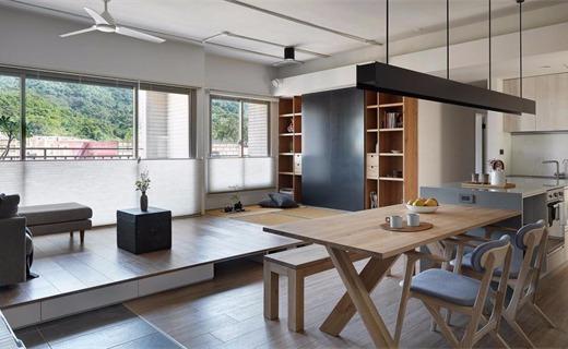 台湾106㎡简约住宅,一切美好想像都在设计里实现了