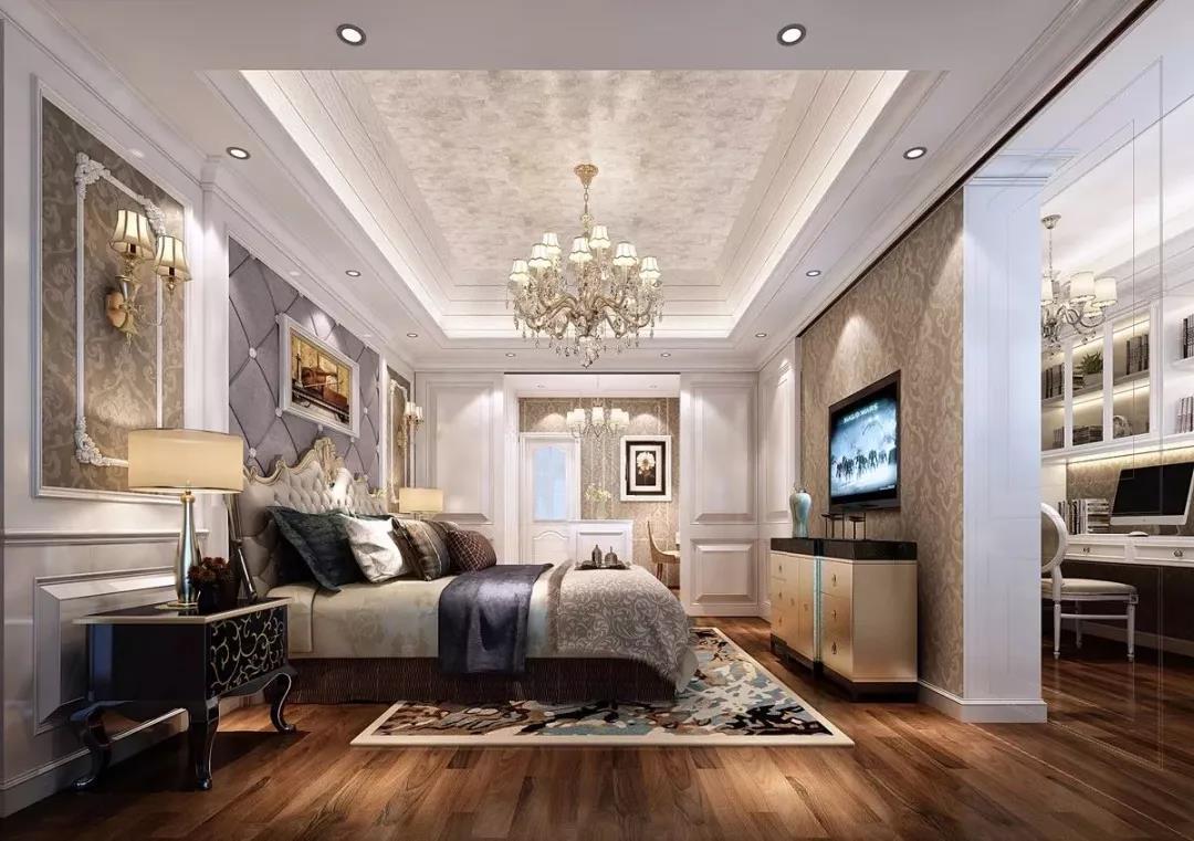 欧式风格的装修常采用木纹仿古砖搭配色彩缤纷的编织物,精美的地毯
