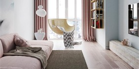 小清新色调搭配出的现代简约公寓
