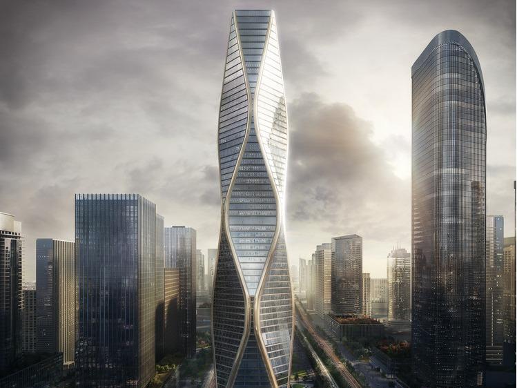 """SOM""""杭州望朝中心""""效果图公布,288米多面结构晋升新地标"""