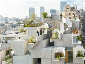 东京tree-ness住宅 模糊室内外界限