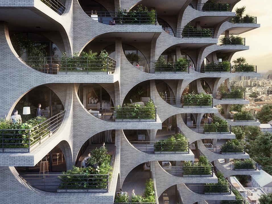 """以色列""""特拉维夫拱廊"""",由拱形结构和阶梯式平台塑造的垂直社区"""