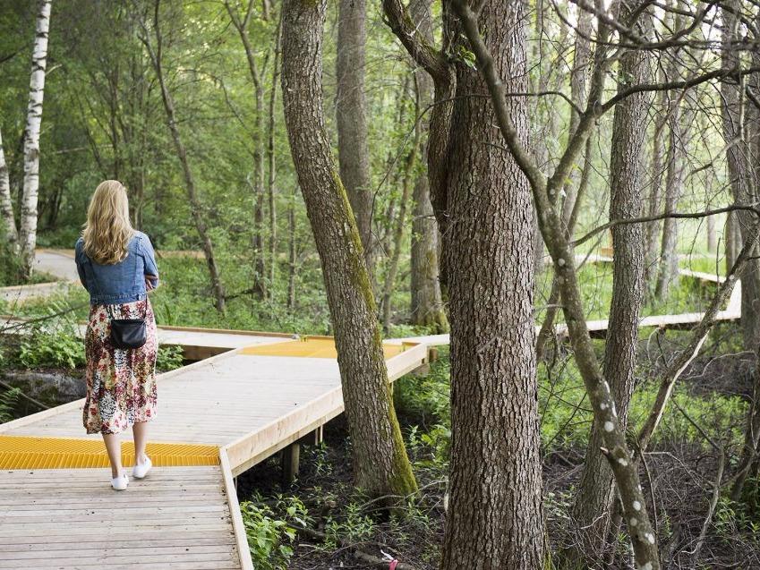 瑞典Arninge-Ullna河岸林公园,连接人与自然的步道