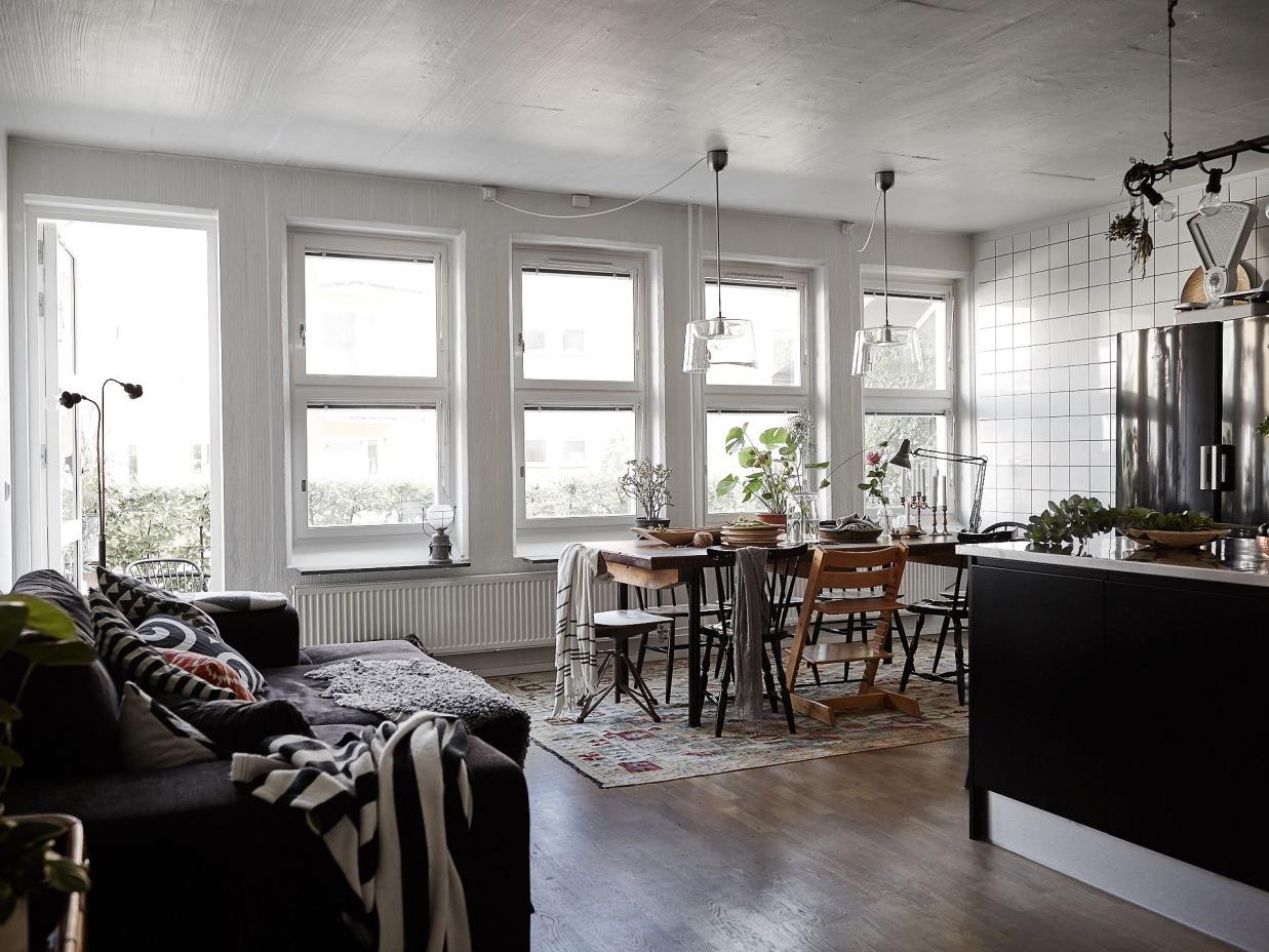 哥德堡市98平三居公寓 中性色调打造冷静北欧家居