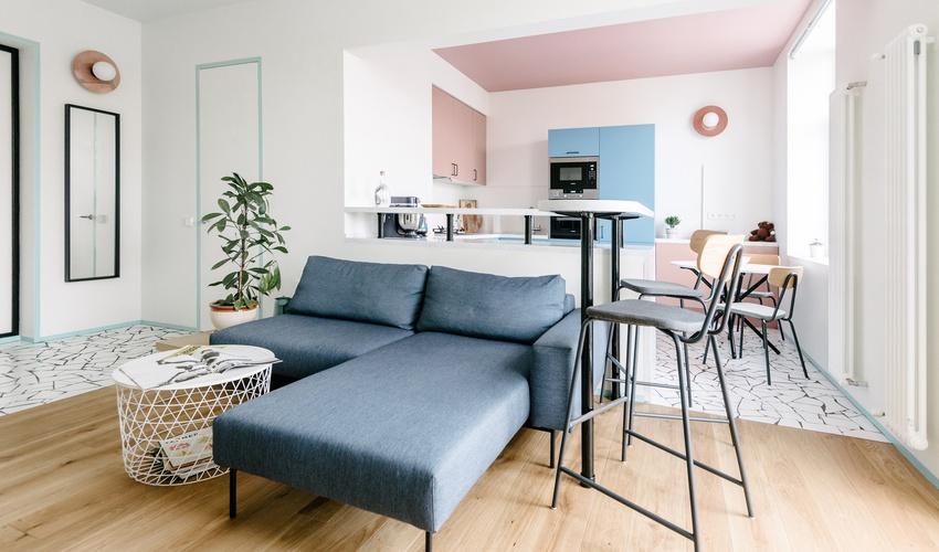 俄罗斯48平米的粉蓝公寓╜+◎↗╒╟╗ ╰-ˋ_辽源商业空间设计