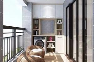 """阳台新装的""""洗衣柜""""太实用了,忍不住给设计师赞一个!"""